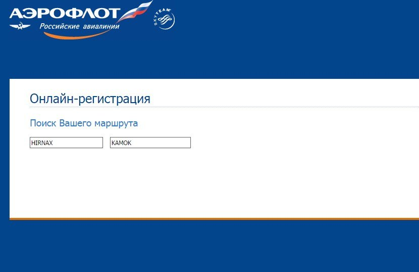 Инструкция для онлайн-регистрации на рейсы Аэрофлота
