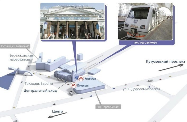 Аэрокспресс в аэропорт Внуково