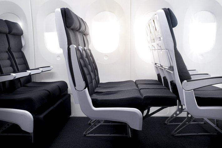 кресла в салоне Air-New-Zealand