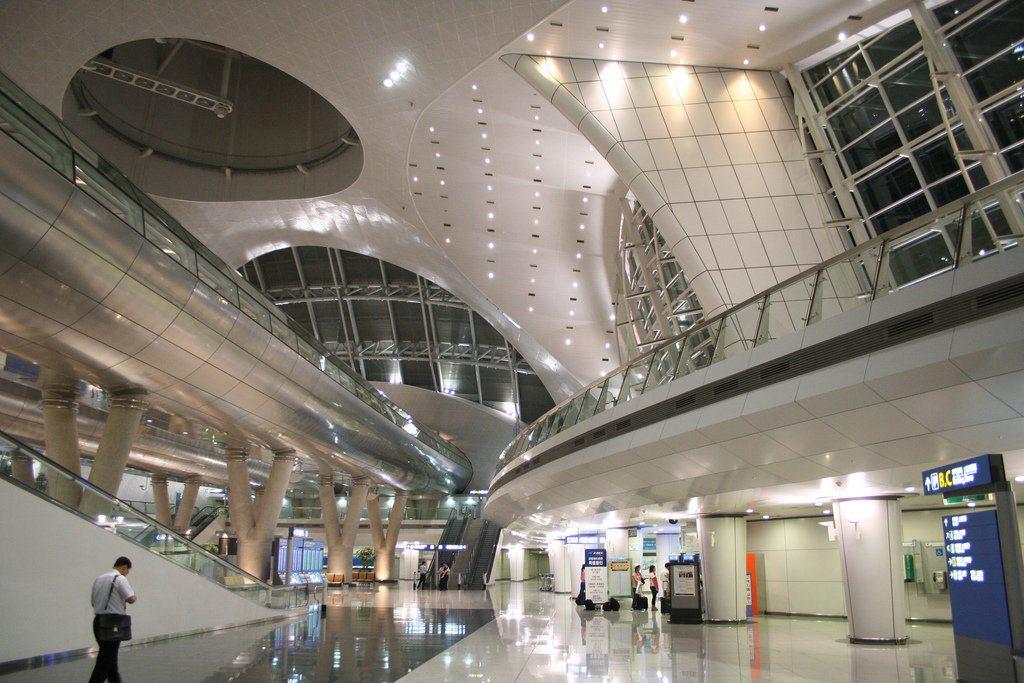 Аэропорт Сеула в Южной Кореи