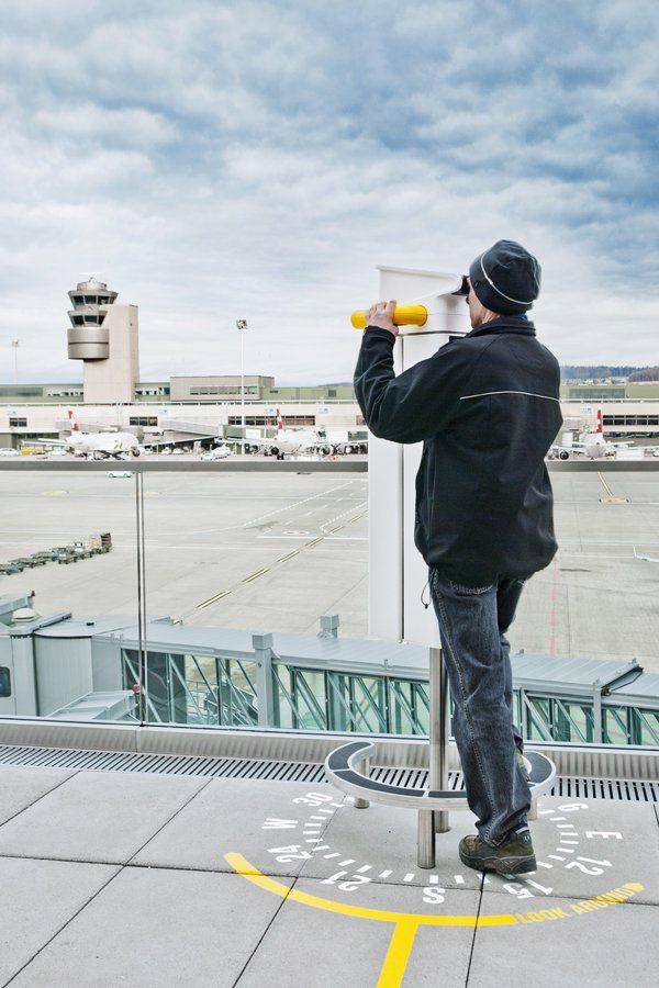 смотровая площадка в аэропорту Цюриха