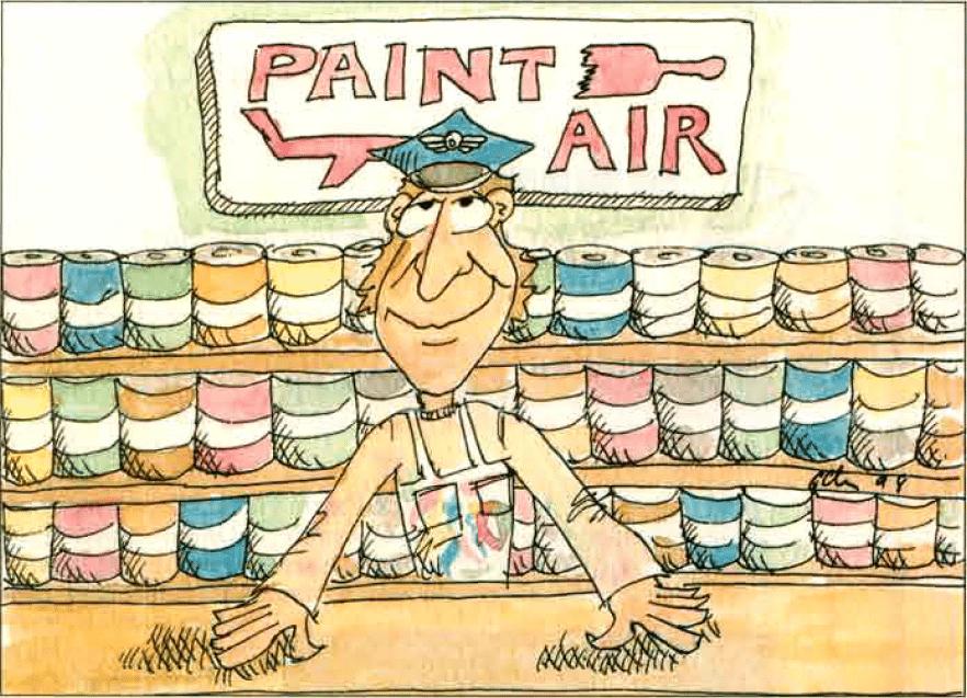 если бы авиакомпании продавали краску