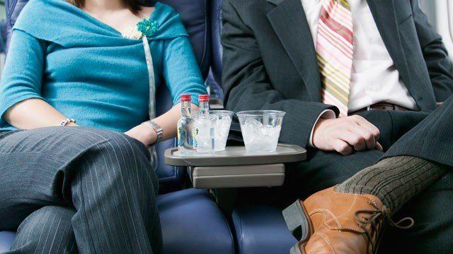 пьяные на борту самолете