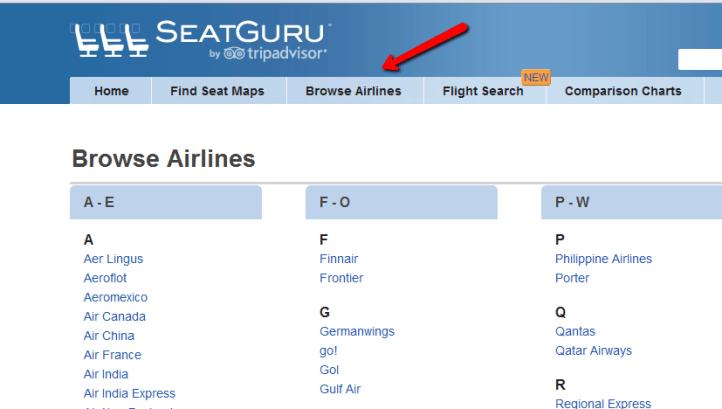 seatguru - выбор авиакомпании