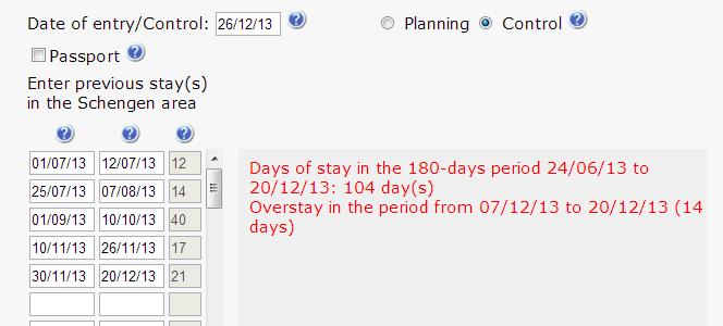 подсчет дней в Шенгене
