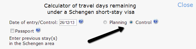 калькулятор для подсчета дней пребывания в Шенгене