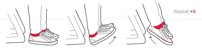 разминка ног во время перелета