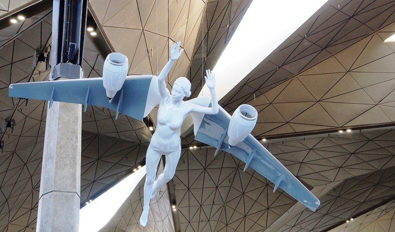 скульптуры девушки-ангелы пулково