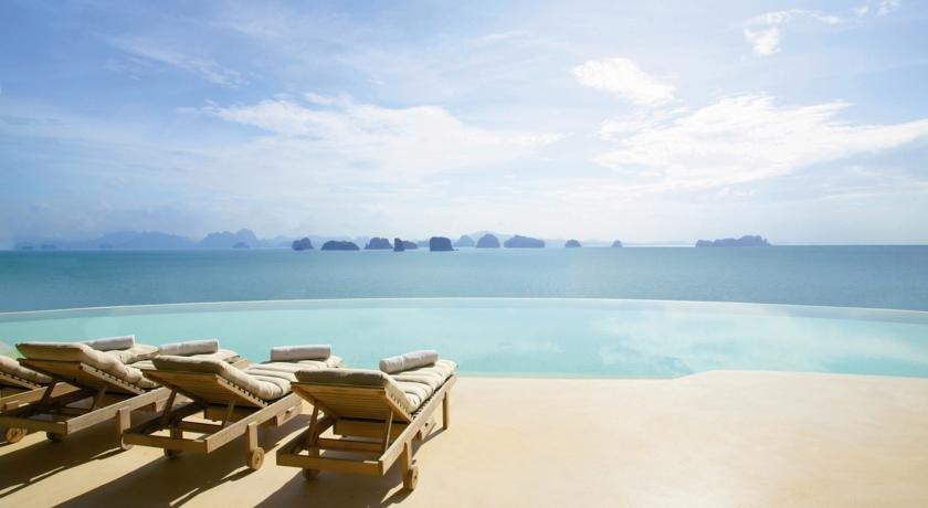 бескрайний инфинити бассейн отеля Six Senses Yao Noi