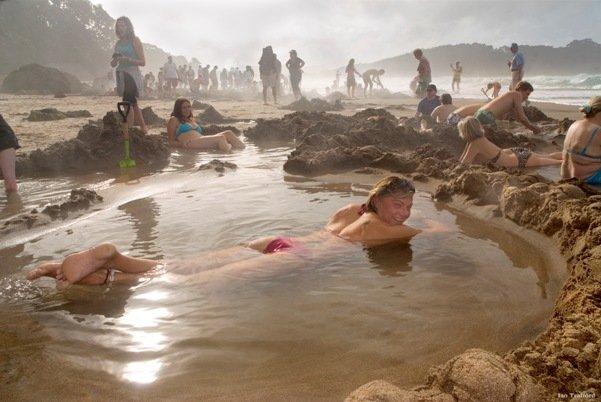 Пляж Хот-Вотер Бич, Новая Зеландия