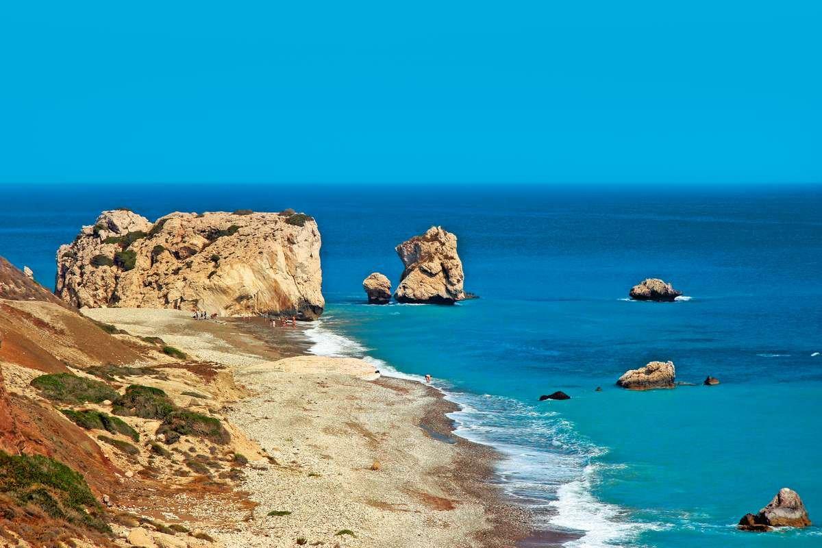 Rock Of Aphrodite, Petra tou Romiou, Paphos, Cyprus